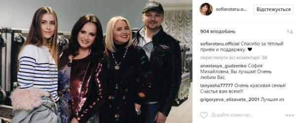 Картинки по запросу У мікроблозі Софії Ротару з'явилася фотографія, на якій зображена родина співачки. На сімейному фото позують її син Руслан, його дружина Світлана і внучка співачки Софія