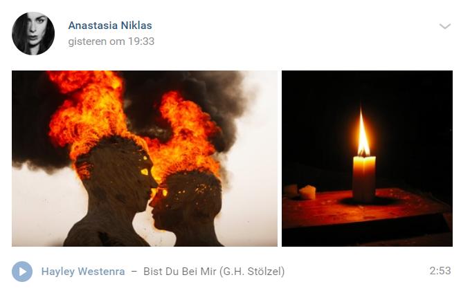 Один із останніх постів Анастасії Ніклас у соцмережі